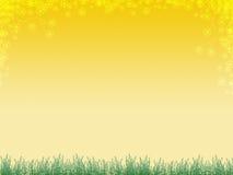Fond avec l'herbe et le flux Image libre de droits