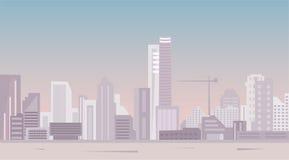 Ville moderne à la vue panoramique de lumière du jour Photos libres de droits