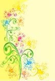 Fond avec l'ornement floral, vecteur Image stock