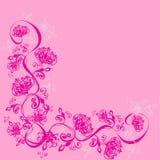 Fond avec l'ornement floral, vecteur Image libre de droits