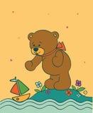 Fond avec l'ours de nounours Image stock