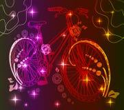 Fond avec la bicyclette légère Photo libre de droits