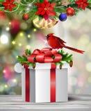 Fond avec la bille de Noël Photographie stock