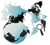 Fond avec la carte Images stock
