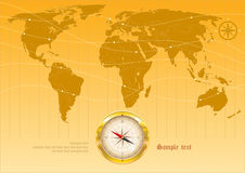 Fond avec la carte du monde Photos libres de droits