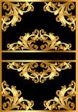 Fond avec la configuration d'or sur le noir Photographie stock libre de droits