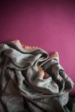 Fond avec la draperie Photos libres de droits