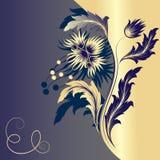 Fond avec la fleur illustration libre de droits