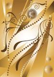 Fond avec la fleur et les programmes. Background.Wall illustration stock