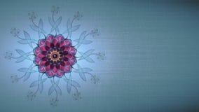 Fond avec la fleur futuriste de la vie Photos libres de droits