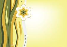 Fond avec la fleur stylisée Photos libres de droits