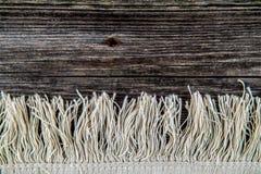 Fond avec la frange de tapis Photographie stock