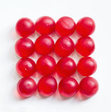 fond avec la gelée ronde red delicious Photos libres de droits