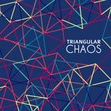 Fond avec la grille texturisé par les triangles colorées Images libres de droits