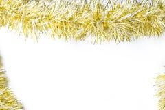 Fond avec la guirlande d'or photographie stock