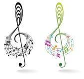 Fond avec la note de musique. illustration libre de droits