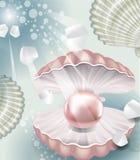 Fond avec la perle illustration de vecteur