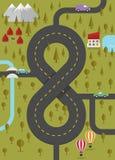 Fond avec la route sous forme de huit Image stock