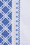 Fond avec la texture de broderie Image stock