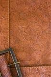 Fond avec la texture et la trame en cuir Photo stock