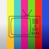 Fond avec la TV Photo libre de droits