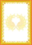 Fond avec le cadre jaune image stock