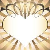Fond avec le coeur Photographie stock