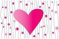 Fond avec le coeur Images stock