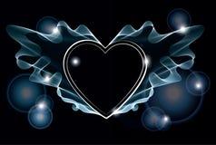 Fond avec le coeur lumineux Image stock