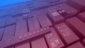 Fond avec le concept futuriste de design de l'interface d'utilisateur avec l'interfice d'éléments de hud illustration stock