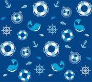 Fond avec le dauphin bleu Image libre de droits