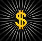 Fond avec le dollar Image stock