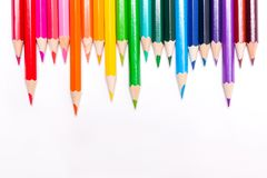 Fond avec le drapeau d'arc-en-ciel de crayons concept de LGBT Photo libre de droits