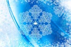 Fond avec le flocon de neige en cristal Images libres de droits