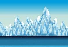 Fond avec le glacier et l'océan Photos stock