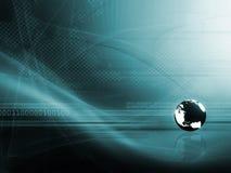Fond avec le globe Image libre de droits