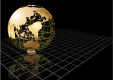 Fond avec le globe abstrait de la terre Images stock