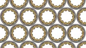 Fond avec le grand plan rapproché cylindrique de roulement à rouleaux Photo stock