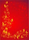 Fond avec le guindineau, florel fleuri, vecteur Images libres de droits