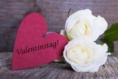 Fond avec le label de jour de valentines Images stock