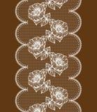 Fond avec le lacet floral blanc Photos libres de droits