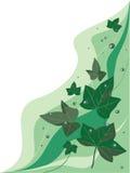 Fond avec le lierre pluvieux illustration libre de droits