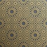 Fond avec le modèle sans couture d'or sur le backgroud noir dans le style islamique Photo libre de droits