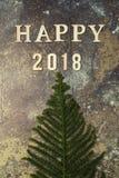 Fond avec le mot 2018 bonnes années Photo stock