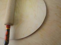 Fond avec le panneau de pâtisserie et la goupille Photo stock