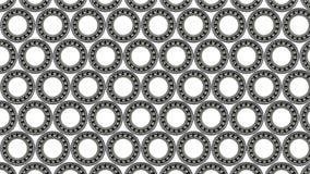 Fond avec le petit plan rapproché roulement à billes, sur le fond blanc images stock