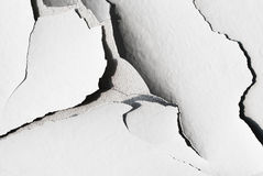 Fond avec le plâtre criqué et la texture concrète Photos stock