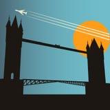 Séjour en ville de Londres Image libre de droits