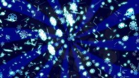 Fond avec le rendu en baisse gentil des flocons de neige 3D illustration libre de droits