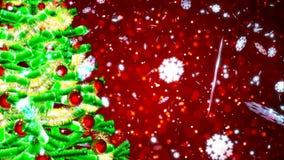 Fond avec le rendu gentil de l'arbre de Noël 3D Photos stock